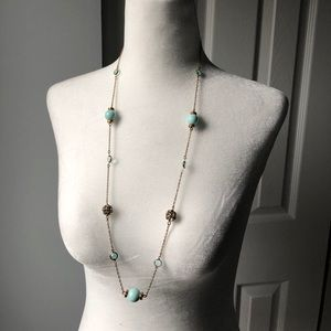 J Crew Pastel Green Long Necklace